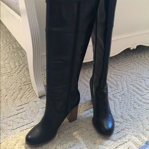 Report Saco Black Leather Tall Boots